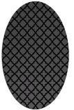 rug #410545 | oval black traditional rug
