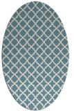 rug #410561 | oval white traditional rug