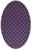 rug #410633 | oval blue-violet traditional rug