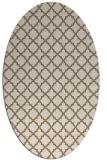 rug #410689 | oval mid-brown rug