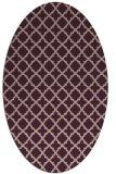 rug #410693 | oval pink traditional rug