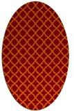 rug #410725 | oval orange geometry rug