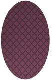 rug #410761   oval purple traditional rug