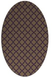 rug #410769   oval mid-brown popular rug
