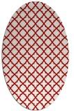 rug #410777 | oval geometry rug