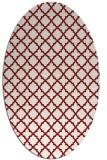rug #410787 | oval geometry rug