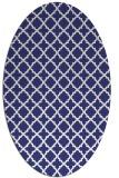 rug #410817 | oval white traditional rug