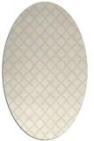rug #410829   oval yellow traditional rug