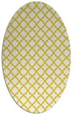 rug #410837 | oval white geometry rug