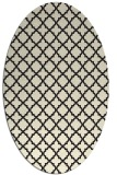 rug #410845 | oval black traditional rug
