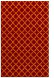 rug #411077 |  orange geometry rug
