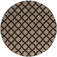rug #411253 | round black traditional rug