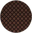 rug #411257 | round brown rug