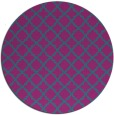 rug #411305 | round blue-green traditional rug