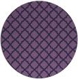 rug #411337   round purple traditional rug