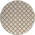 rug #411393 | round mid-brown rug