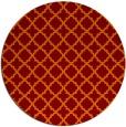 rug #411429 | round red-orange traditional rug