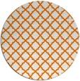 rug #411433 | round orange rug