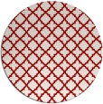 rug #411481 | round red traditional rug