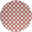 rug #411489 | round red traditional rug