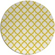 rug #411541 | round yellow traditional rug
