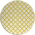 rug #411541 | round white geometry rug