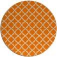 rug #411557 | round orange rug