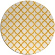 rug #411577 | round light-orange traditional rug