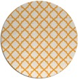 rug #411589 | round light-orange geometry rug