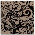 rug #411957 | square black damask rug