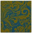rug #412005 | square green damask rug