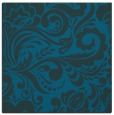 rug #412025 | square blue-green damask rug