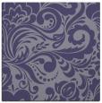 rug #412033 | square blue-violet damask rug
