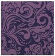 rug #412041   square blue-violet damask rug
