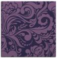 rug #412041 | square purple damask rug