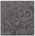 rug #412093 | square mid-brown damask rug