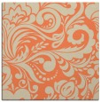 rug #412141   square orange damask rug