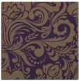 rug #412177 | square mid-brown damask rug