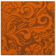 rug #412209 | square red-orange damask rug