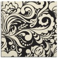 rug #412253 | square black damask rug