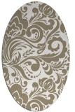 rug #412297 | oval beige damask rug