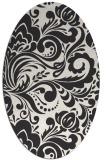 rug #412304 | oval damask rug