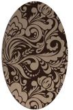 rug #412311 | oval damask rug