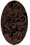 rug #412313 | oval brown damask rug