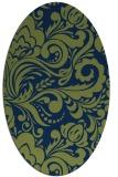 rug #412333 | oval blue damask rug