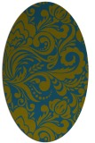 rug #412357   oval green damask rug