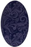rug #412381   oval blue-violet damask rug