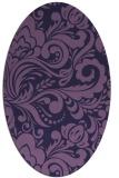 rug #412393 | oval purple damask rug