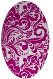 rug #412397 | oval damask rug