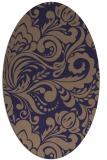rug #412405   oval blue-violet damask rug